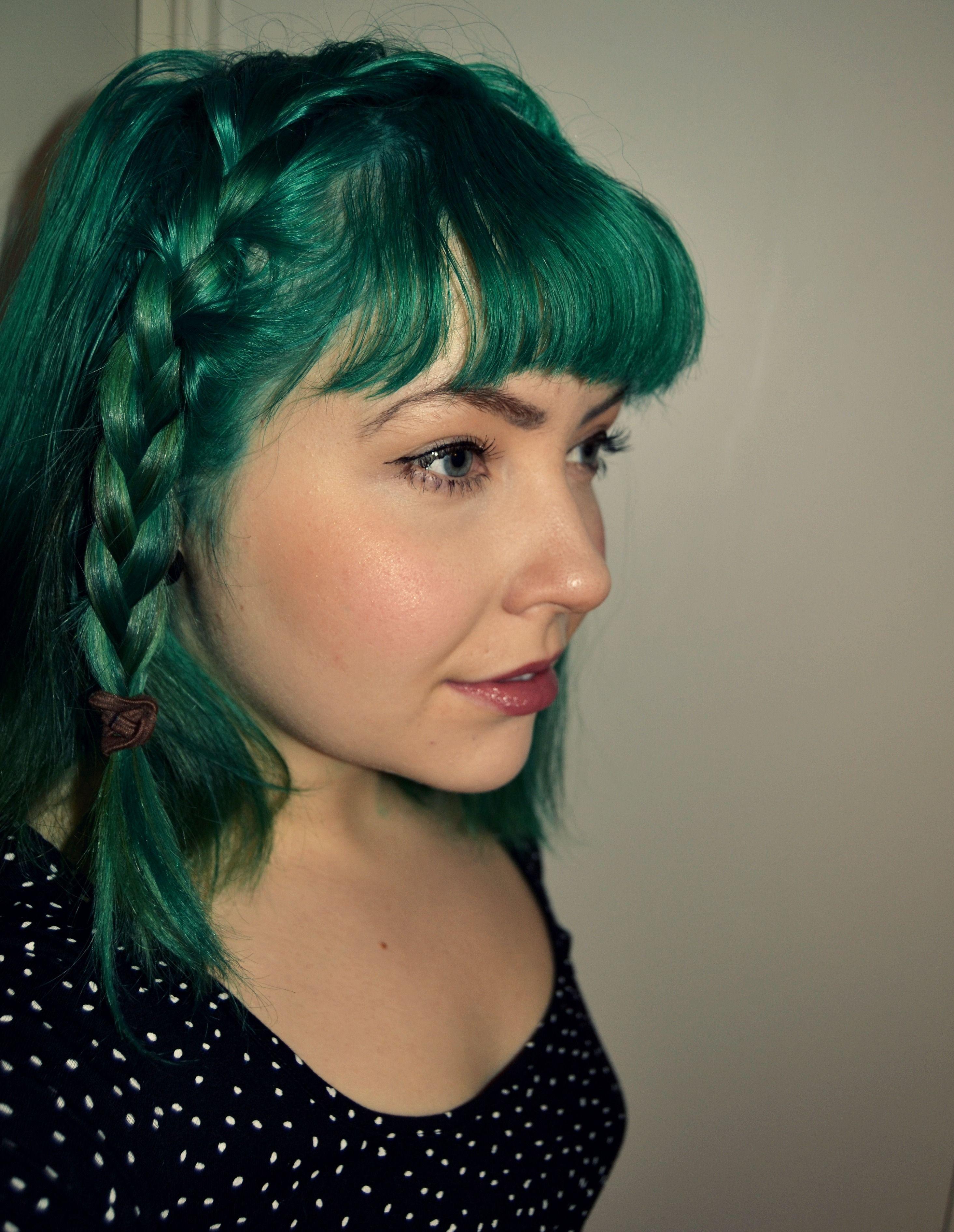 Green Hair Directions Alpine Green Apple Green Mix