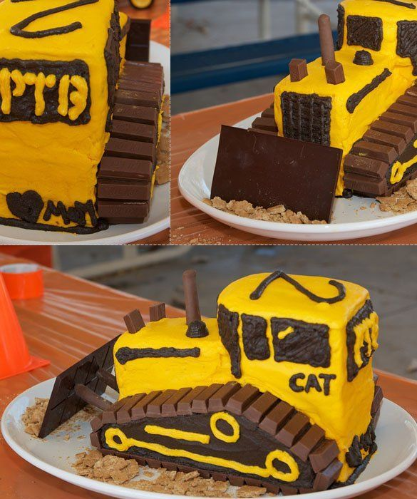This Tractor Cake would be fun to make for a kids construction theme