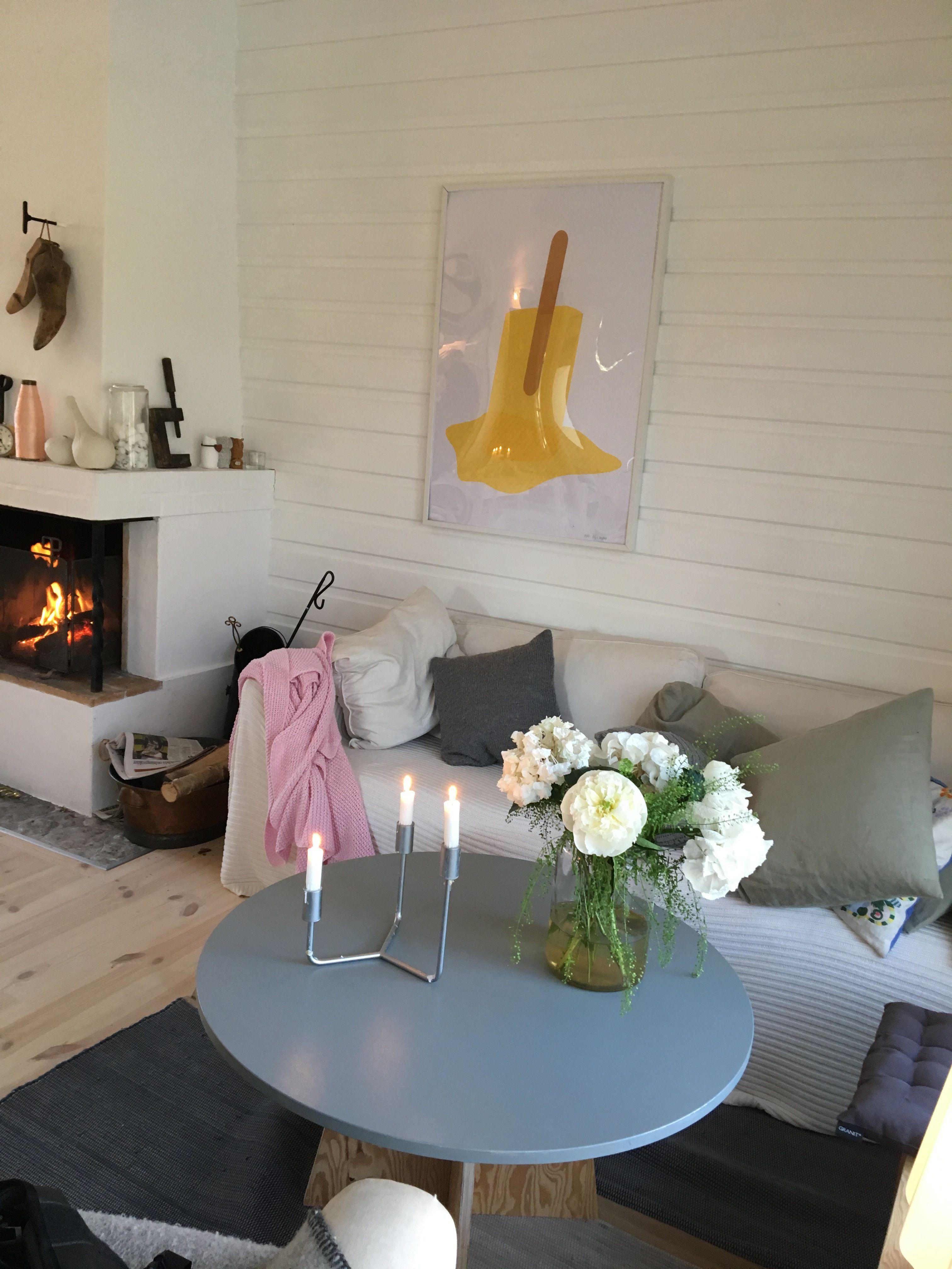 Soffa swedish rugs öppen spis fårö sommarhus sommarhus pinterest
