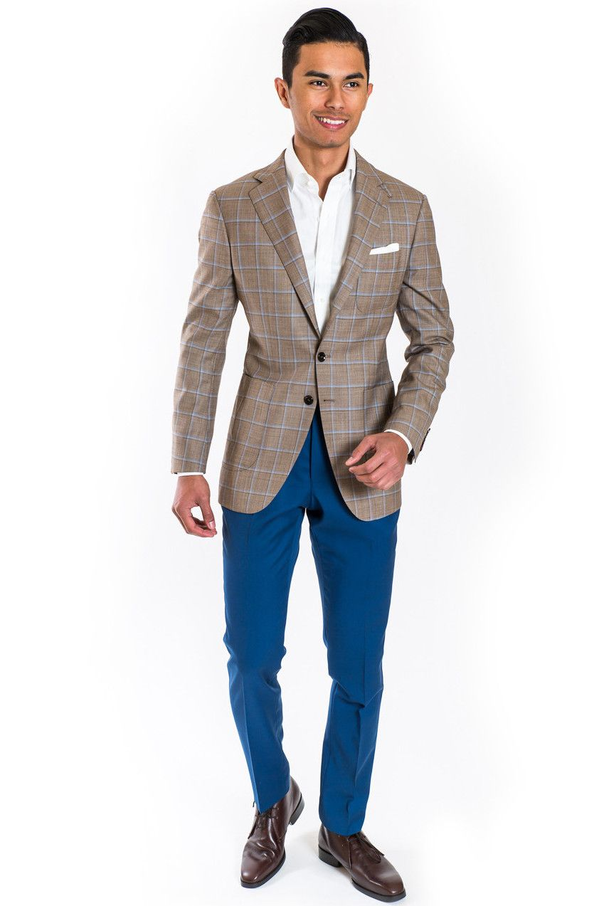 Brown Sport Coat and blue trousers by Estuniga! Click the