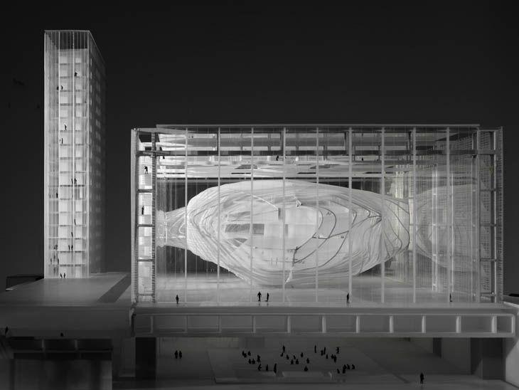 MASSIMILIANO FUKSAS Modello del Palazzo dei Congressi di Roma, 2001 © courtesy Fondazione MAXXI Roma