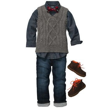 Christmas outfit for b. Cable-Knit Caroler | My Little Men ...