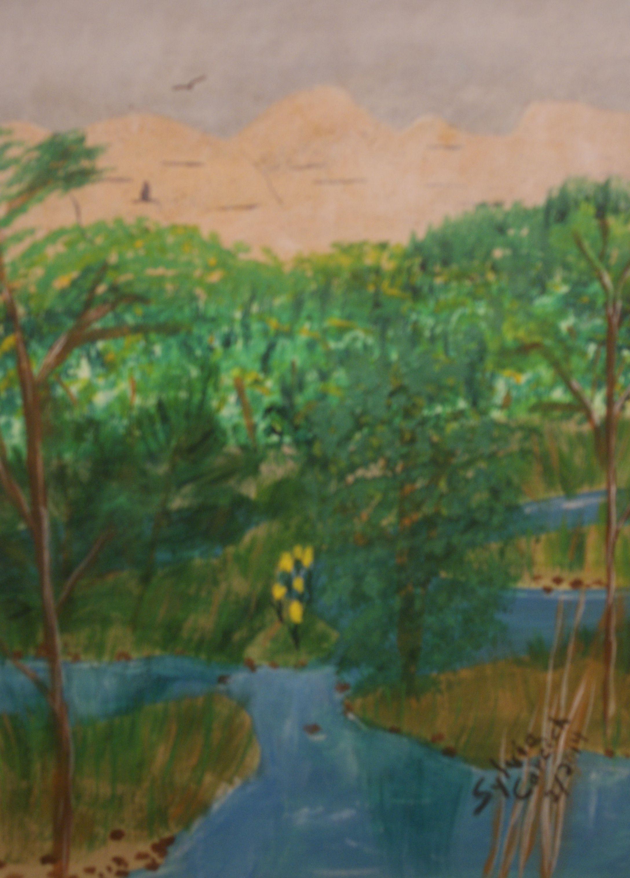 Winding Creek 11X14 acrylic on canvas $150.00 +shipping