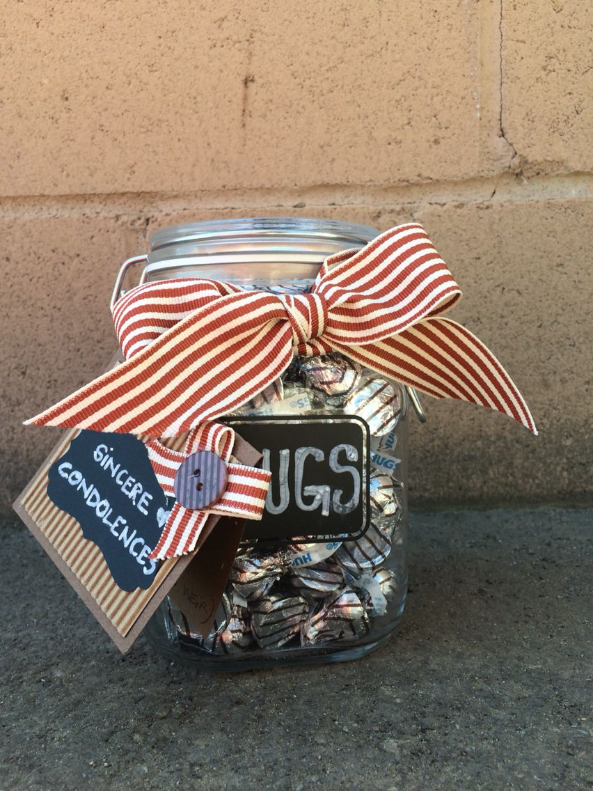 Condolence gift jar of hugs completed completed diy gifts condolence gift jar of hugs solutioingenieria Choice Image