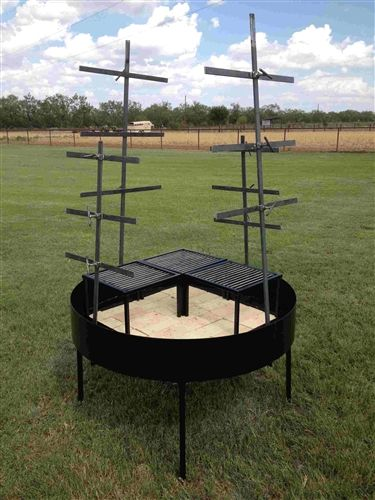 Wind Block Ideas For Patio: Asado Catering Cross And Grill Table (windblock)