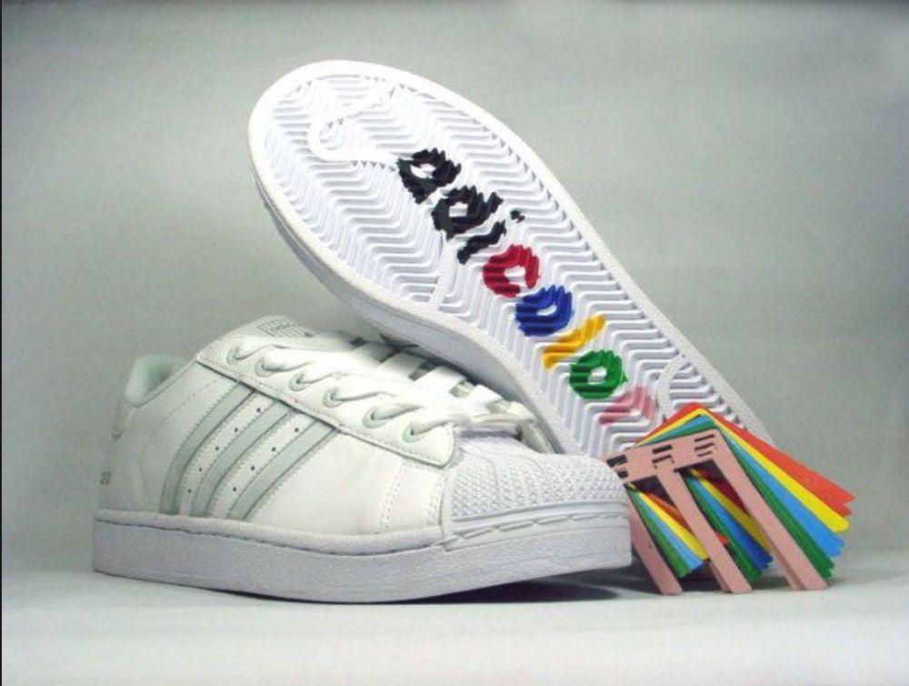 RARE Mens Adidas Adicolor Superstar W5 10.5 Sneakers