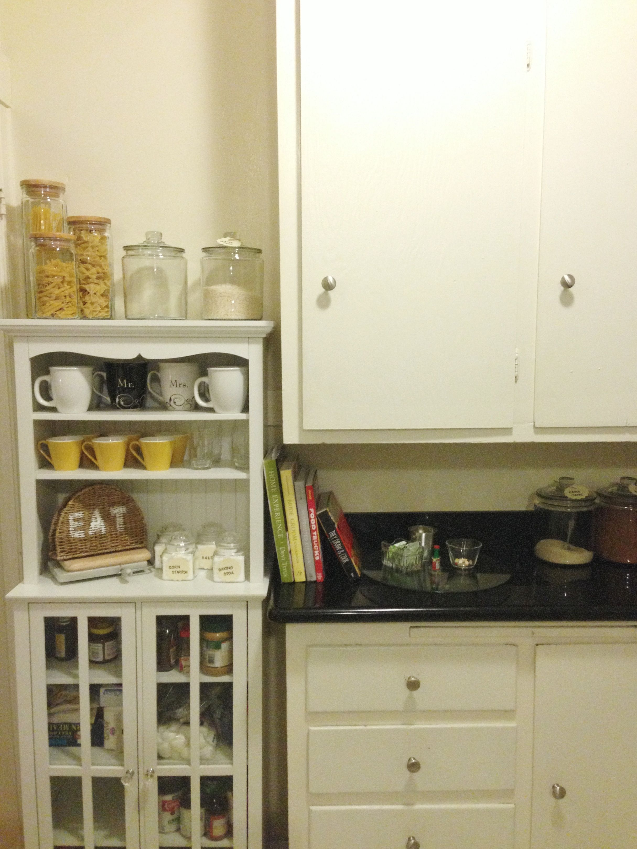 Beautiful organization for small kitchen. Love my SF apartment ...