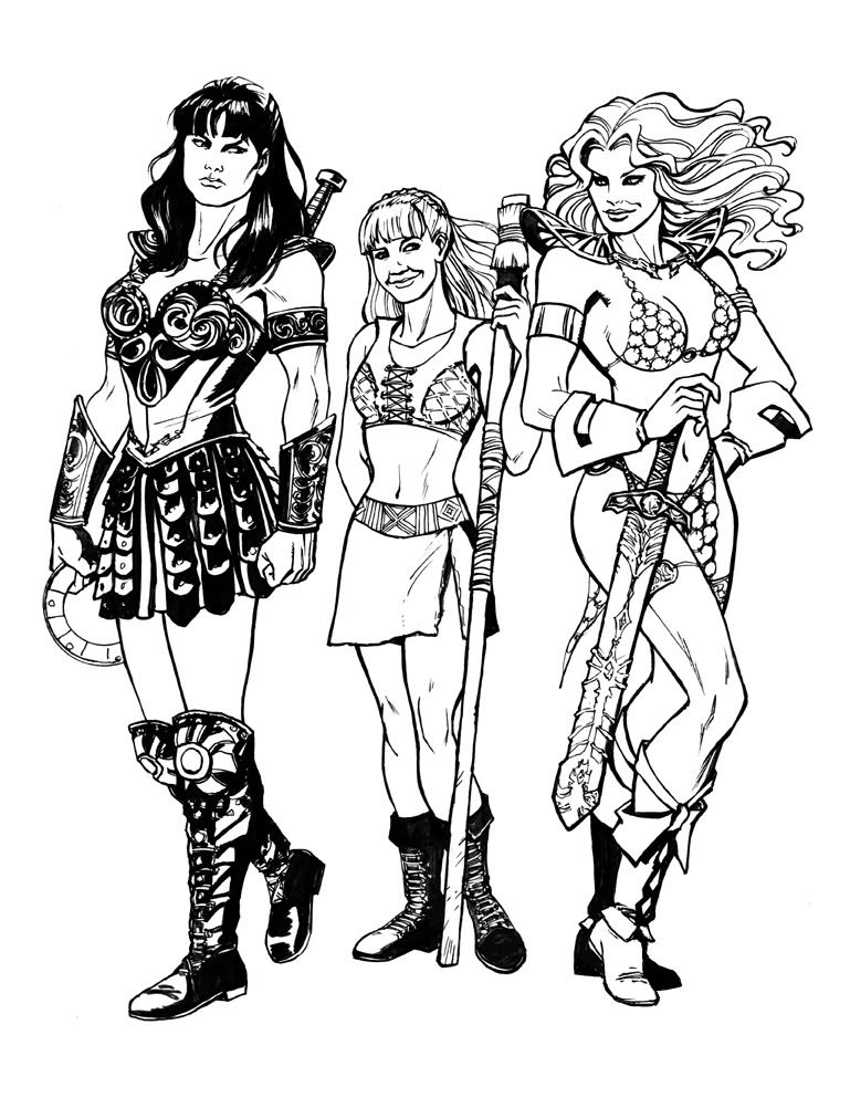 Yeyed S Image Red Sonja Dragon Coloring Page Princess Coloring Pages
