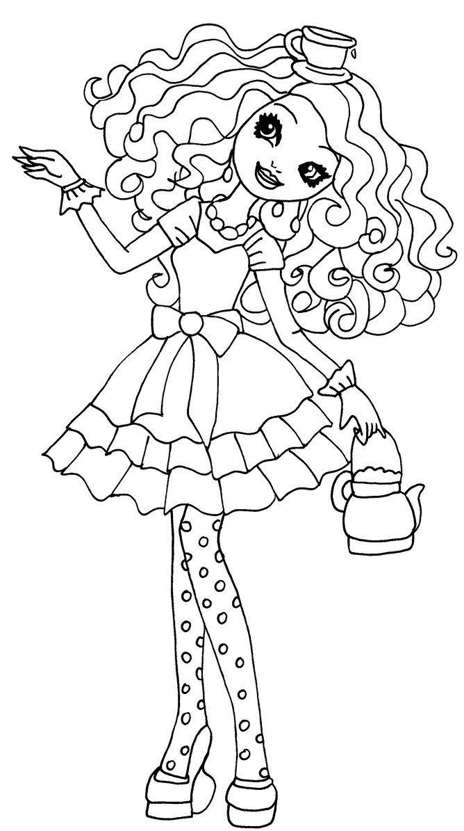 Madeline Hatter Desenhos Para Colorir Ever After High Desenhos