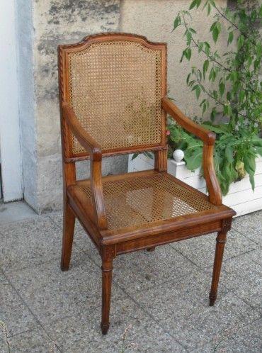 Fauteuil 1900 Style Louis Xvi Canne Sedie Sedie