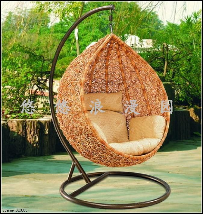 Rattan Casual Swing Bamboo Basket Balcony Outdoor Garden