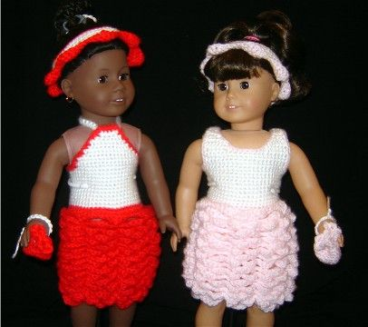Bizzy Crochet Rose Dress 18 Doll Clothes Pattern Free Pattern