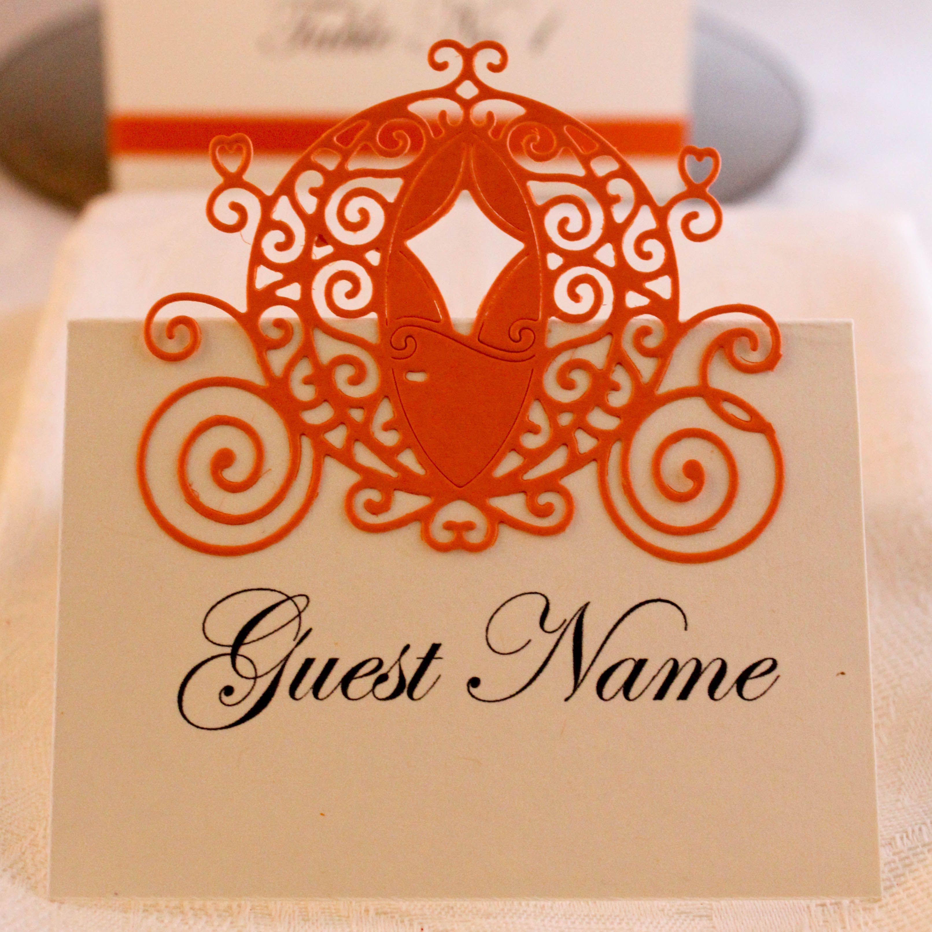 Printed on 270gm Papago Cream Card. Pumpkin Carriage are die cut ...