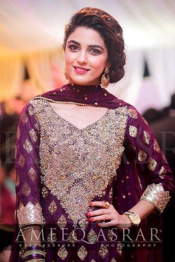 Royal Purple Pakistani Outfits Fashion Pakistani Dresses