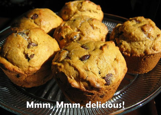 Pumpkin Chocolate Chip Muffins...(tastes like the Pumpkin Bread you get at Great Harvest).