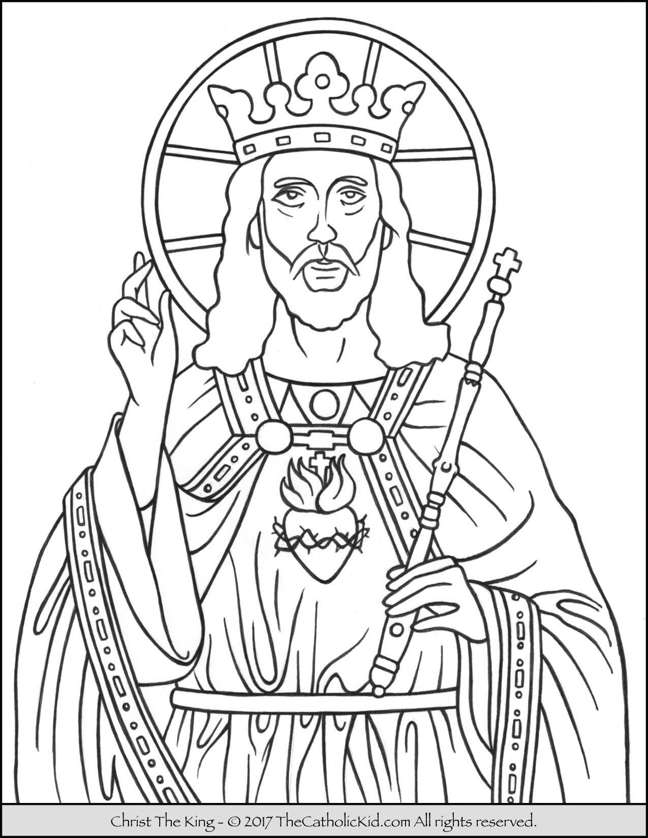 Christ The King Coloring Page Catholic Coloring Christ The King Jesus Coloring Pages