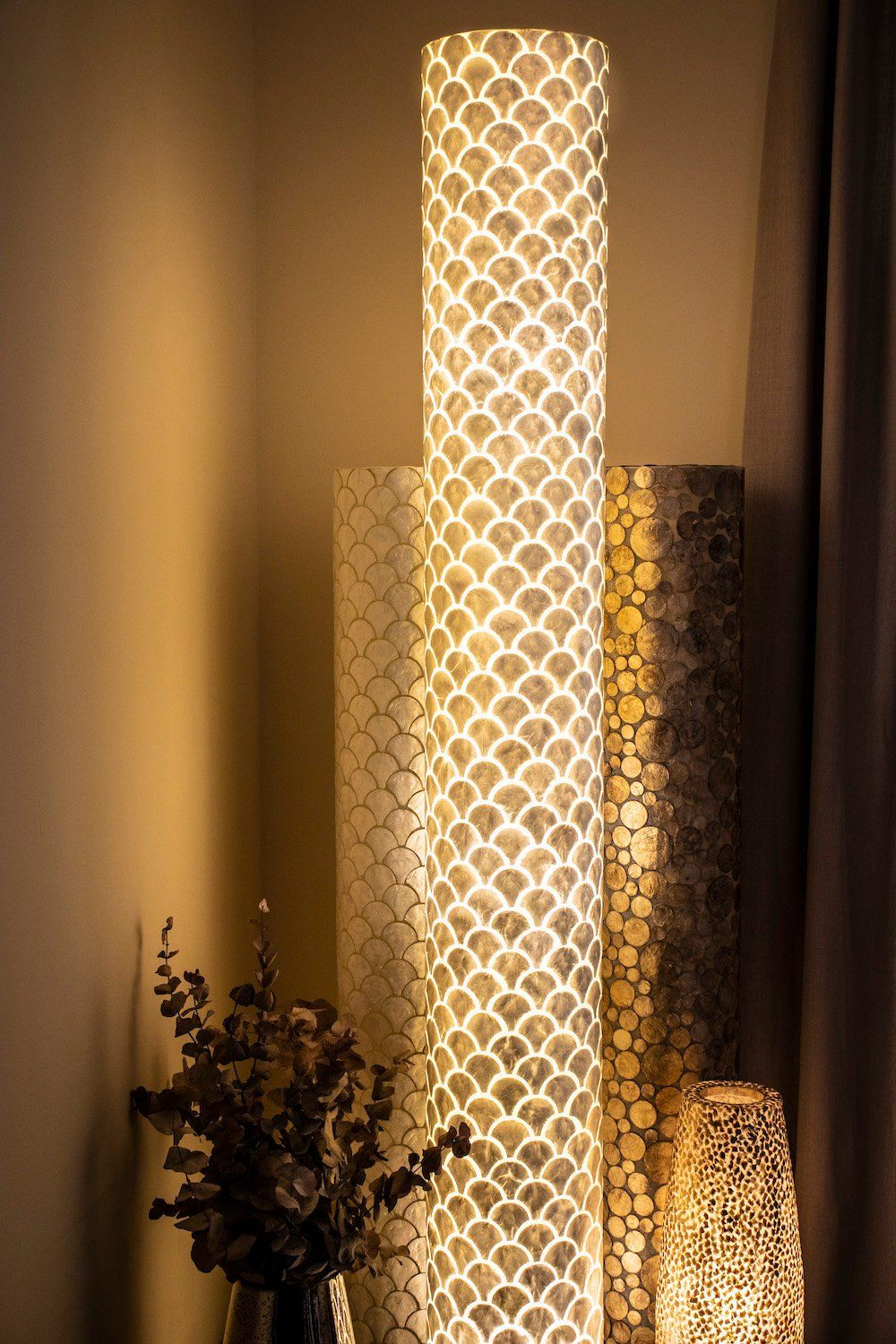 Summer White Mother Of Pearl Floor Lamp Seville Unique