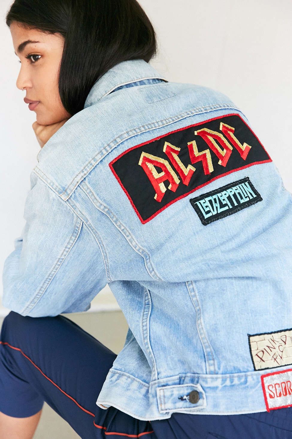 Vintage Band Patch Denim Jacket | Denim jacket patches