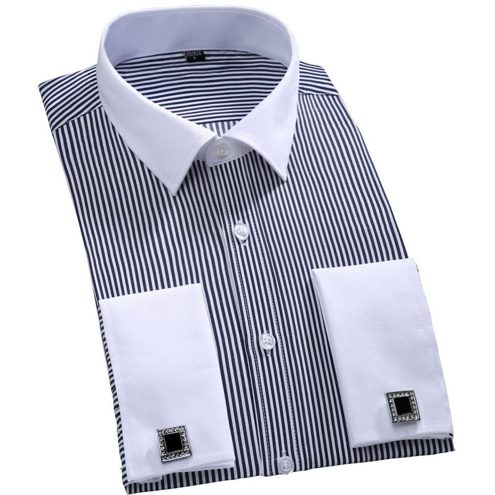 Wedding dress shirts for men  Click to Buy ucuc  New Cufflinks Men Dress Shirts Fashion Formal