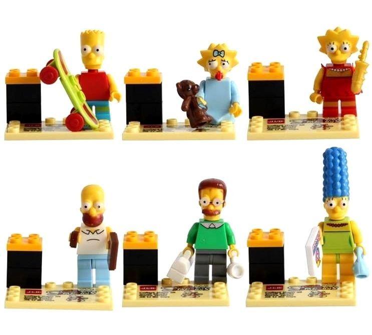 Bart Homer Marge Lisa Maggie • Lego The Simpsons Family Mini Figures Frame