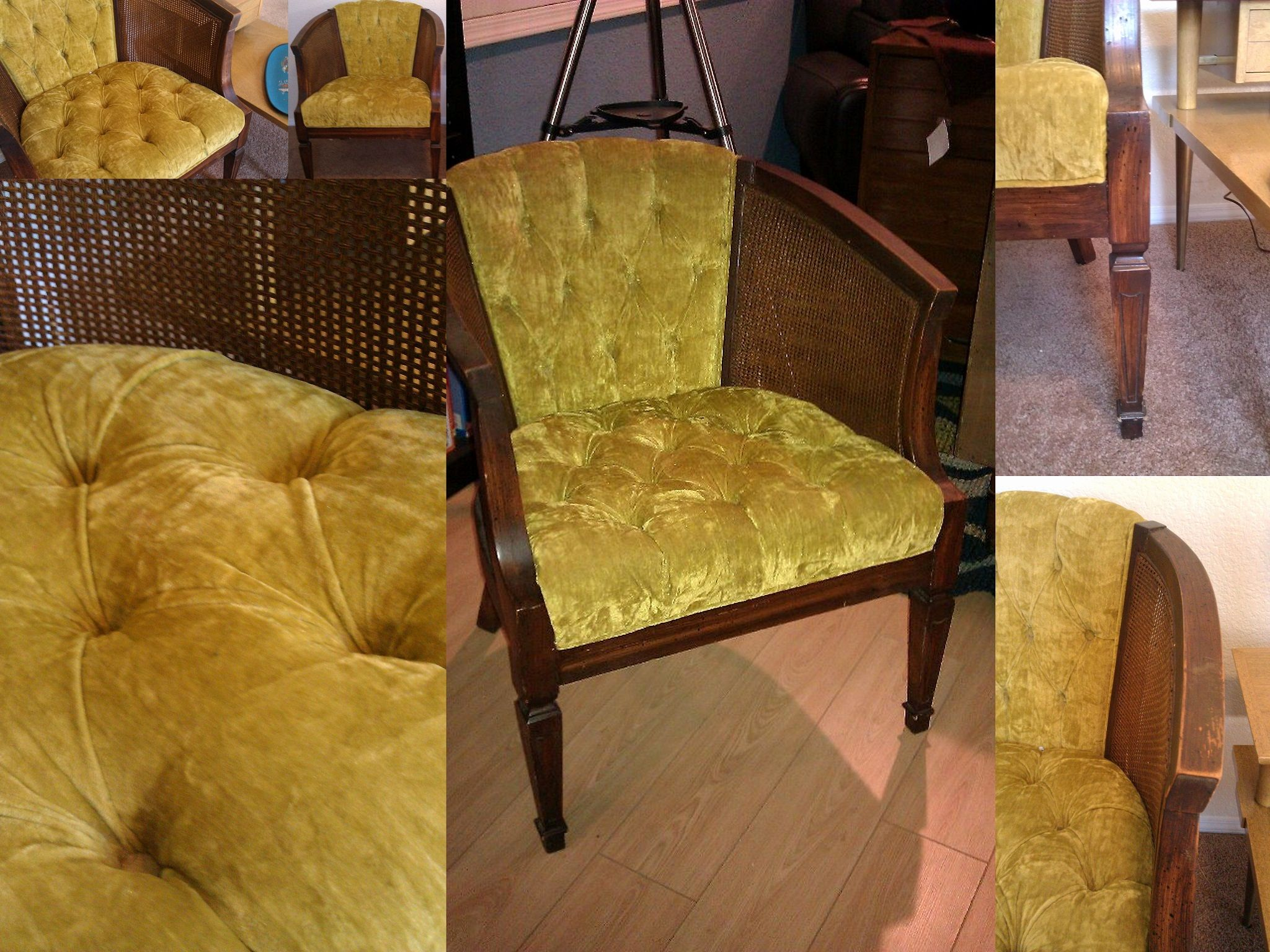 Lovely Chartreuse Velvet Sofa Shot Awesome Chair Vintage Mid Century Barrel With Crushed