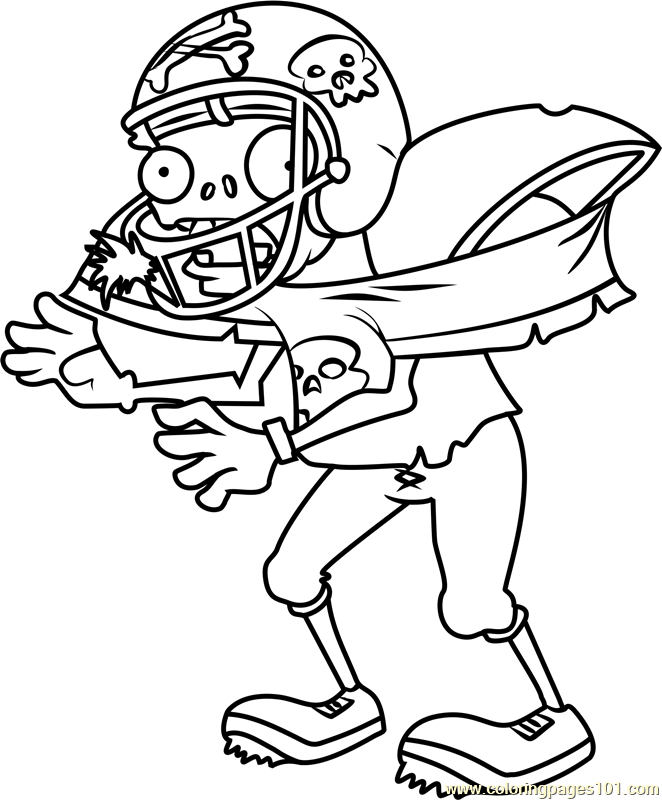 Plants Vs Zombies Coloring Pages Football Coloring Pages Coloring Pages Cool Coloring Pages