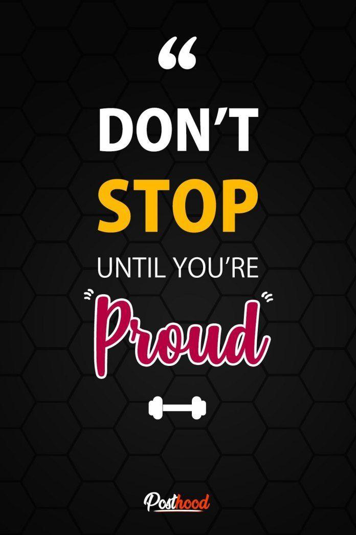 Hör nicht auf, bis du stolz bist! Beste Fitness Motivation Wallpaper für iPhone, ...   - Fitness - #...
