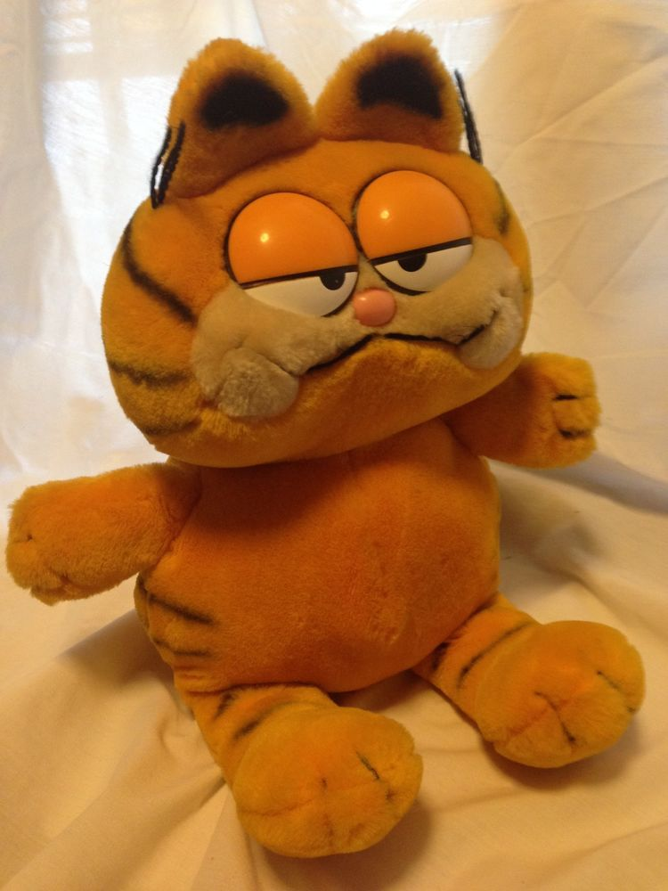 Vintage Large Garfield 1981 Dakin Stuffed Plush Animal Cat Doll 16