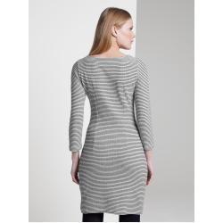 Tom Tailor Damen Strukturiertes Kleid, grau, gemustert, Gr.42 Tom TailorTom Tailor #chocolatestrawberrysmoothie