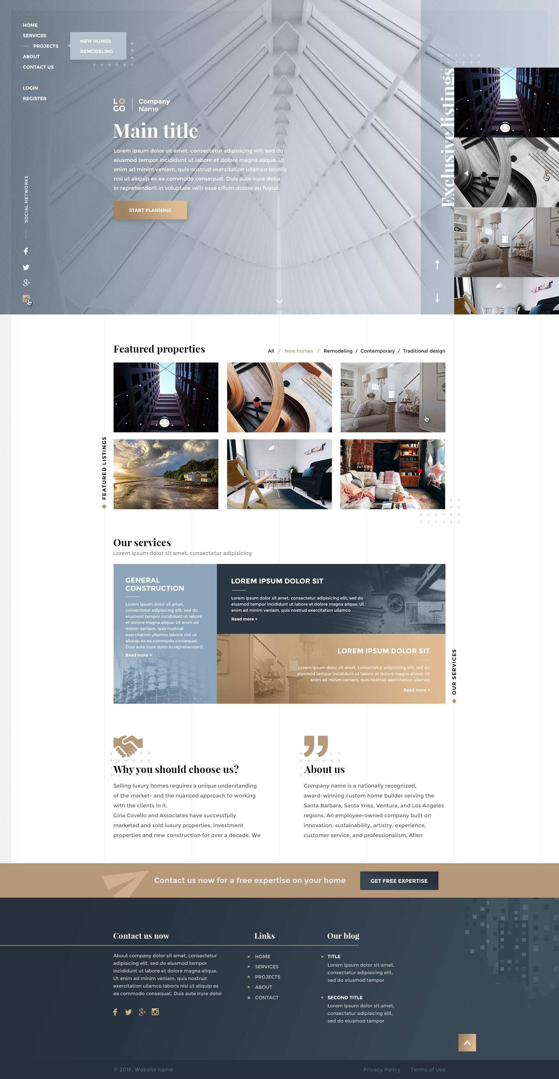 Construction And Interrior Design V2 2 Interrior Design Design Web Design