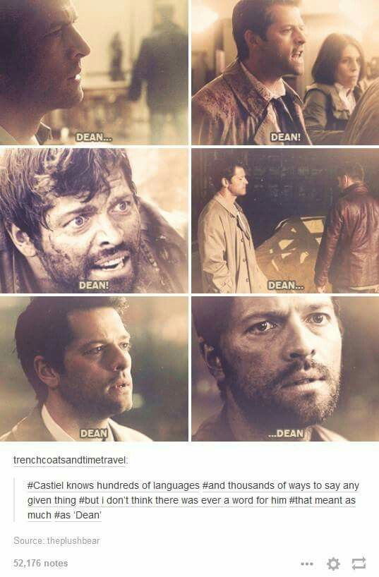 Cas learned what being human meant with Dean. Dean is not only his best friend, he also represents the best parts of humanity to Cas. I'm not surprised that Dean means so must to Cas.