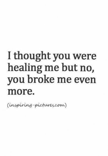 Heart break.