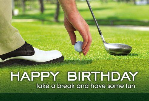 Happy Birthday Golf Folding Card 322115 Sharpercards Com