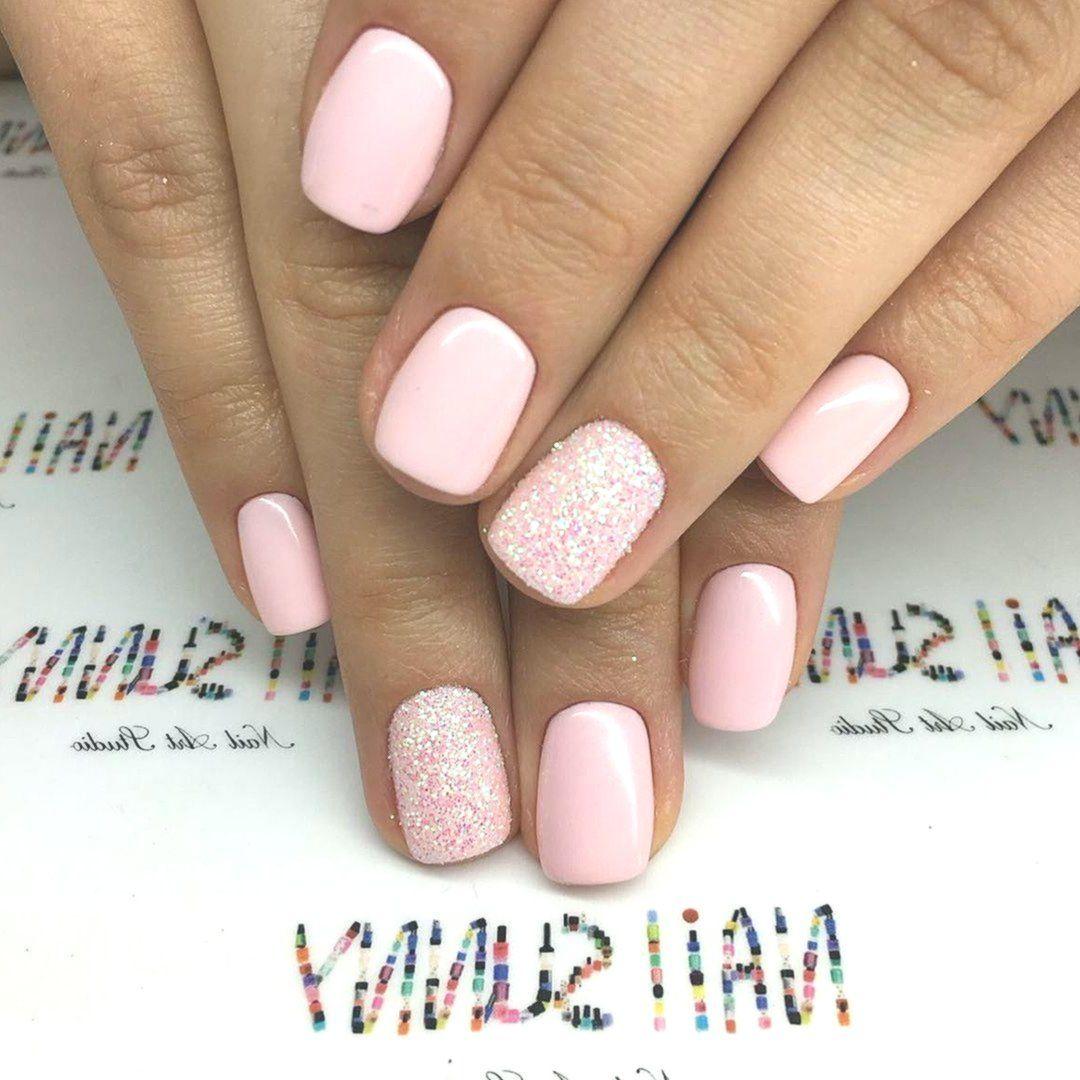Pink Gel Nail 40 Ideas For A Perfect Nail Art Ideas Perfect In 2020 Pink Sparkle Nails Pink Gel Nails Pale Pink Nails