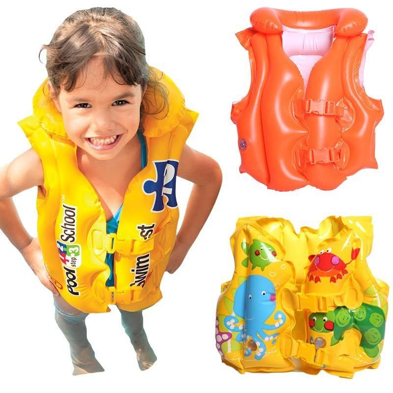 Baby Kids Children Inflatable Beach Swimming Pool Safety Life Jacket Vest Float Toddler Beach Baby Kids Girls Swimming