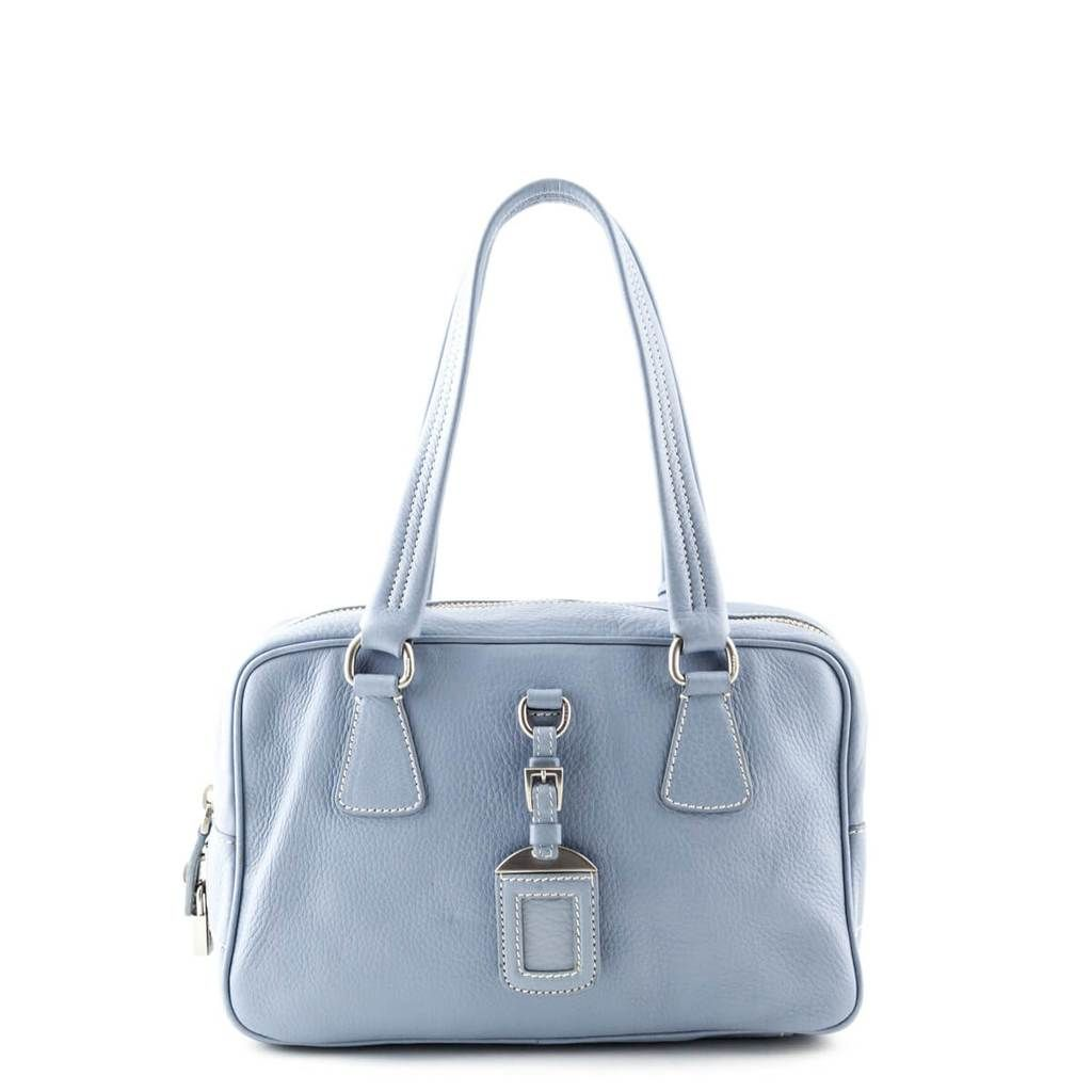 6f46c4946818 Prada Baby Blue Cervo Small Bowler bag - LOVE that BAG - Preowned Authentic  Designer Handbags
