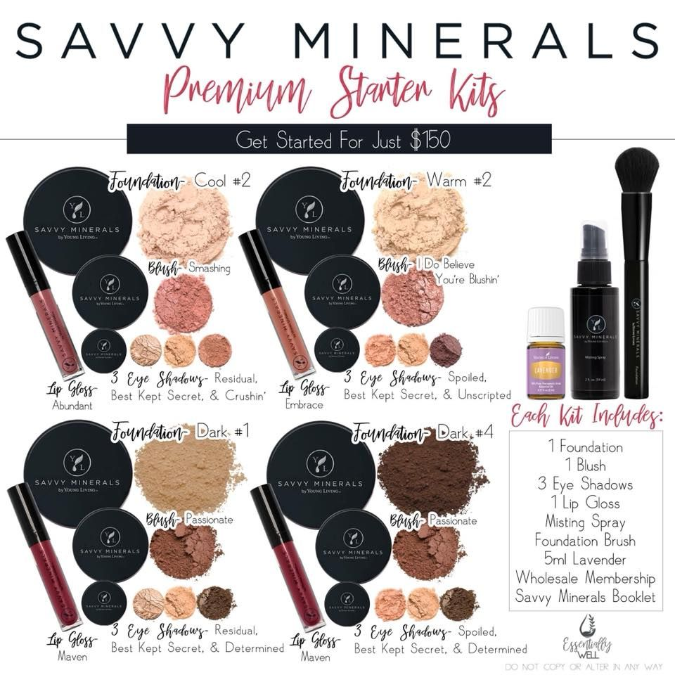 Savvy Minerals Makeup Premium Starter kit coming Feb. 1 at