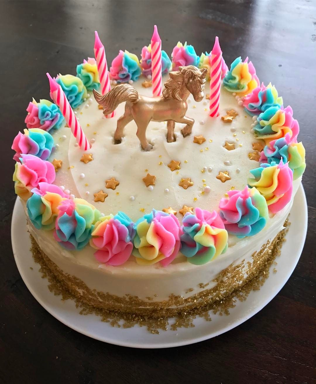 Cake Idea For Girls Bday No Recipe The Frosting Is Pretty Easy
