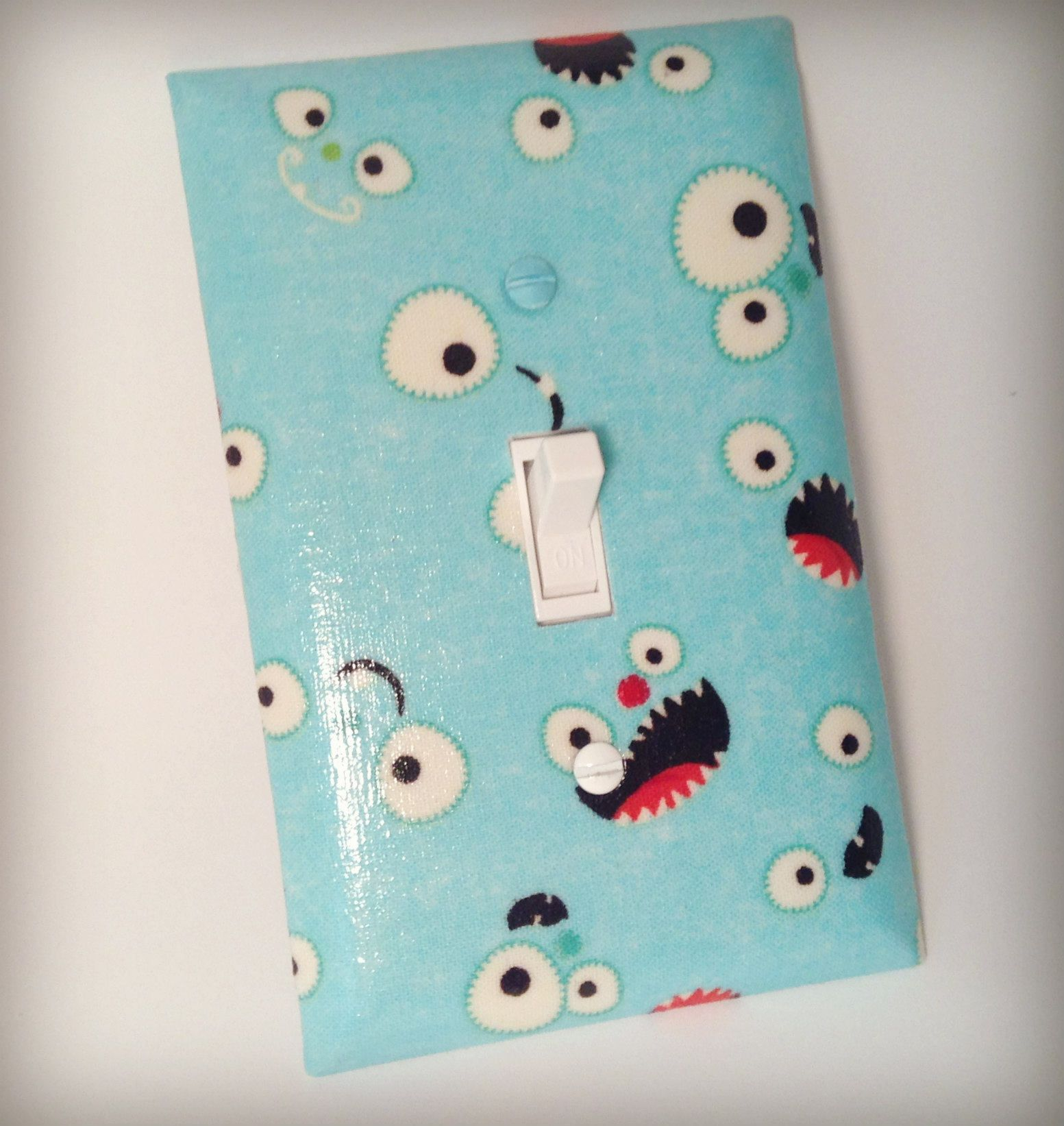 Monster Switch Plate, Light Switch Plate, Nursery Switch Plate ...