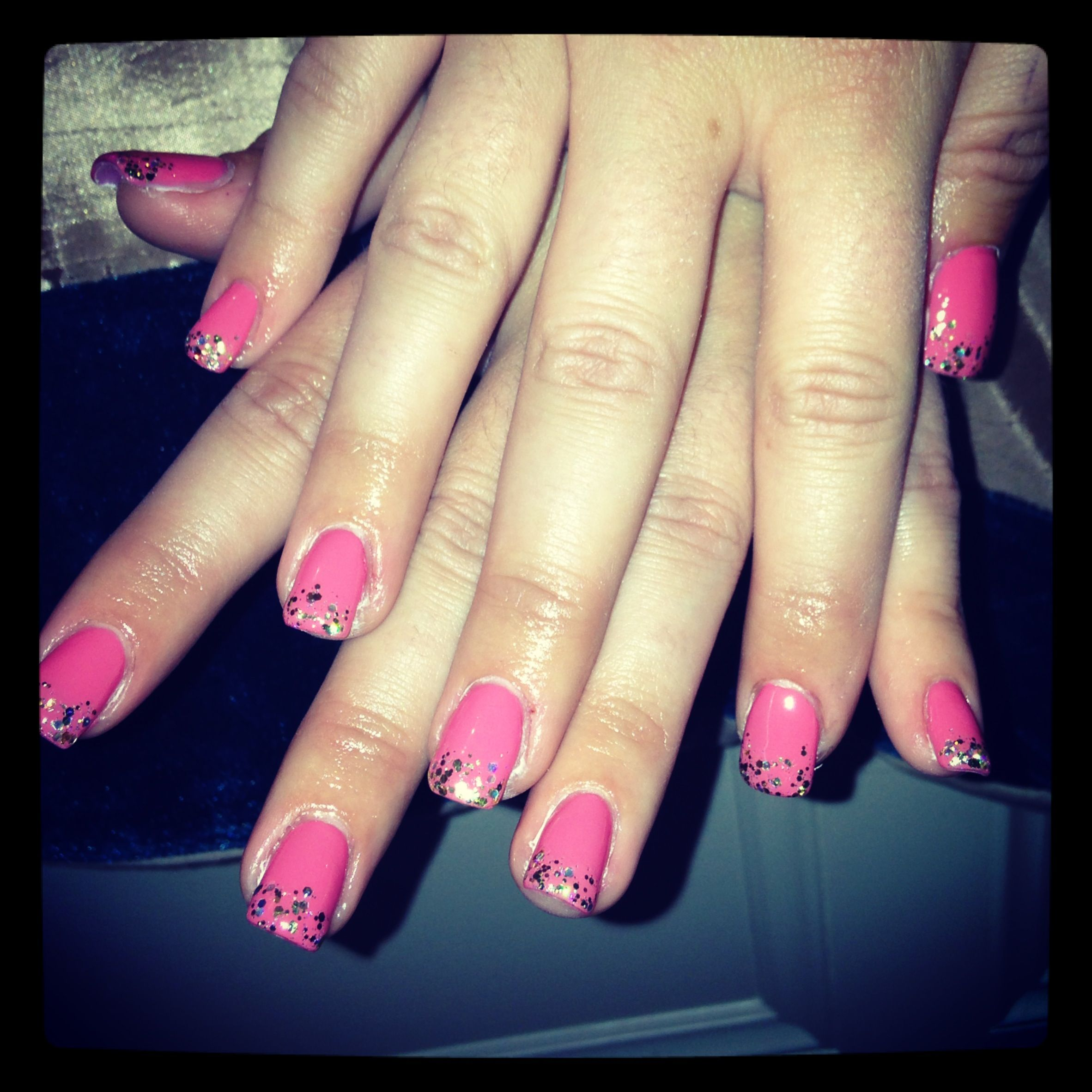 Glitter Nail Ideas For Summer: All Ready For Holiday #summer #nails #acrylics #pink #gold