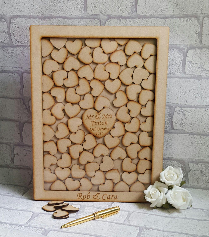 Custom Guest Book, Drop Box, Wedding Guestbook, wooden wedding ...