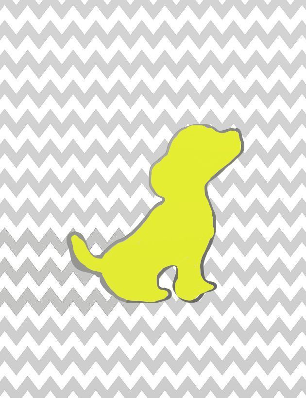 yellow puppy dog modern contemporary posters print whimsical art ...