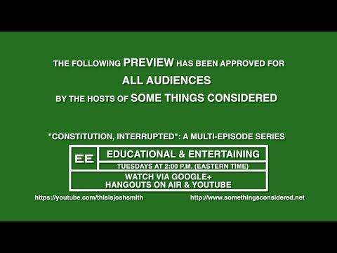 """STC: """"Constitution, Interrupted"""" Promo Ad"""