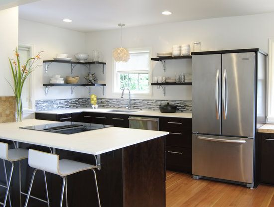 kitchen with shelves instead of cabinets shelves on kitchen shelves instead of cabinets id=18760