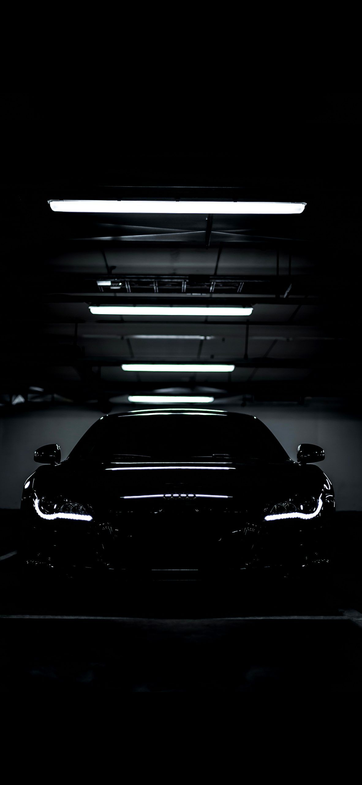 Parked Black Audi R8 In 2020 Black Audi Audi R8 Wallpaper Black Wallpaper Iphone