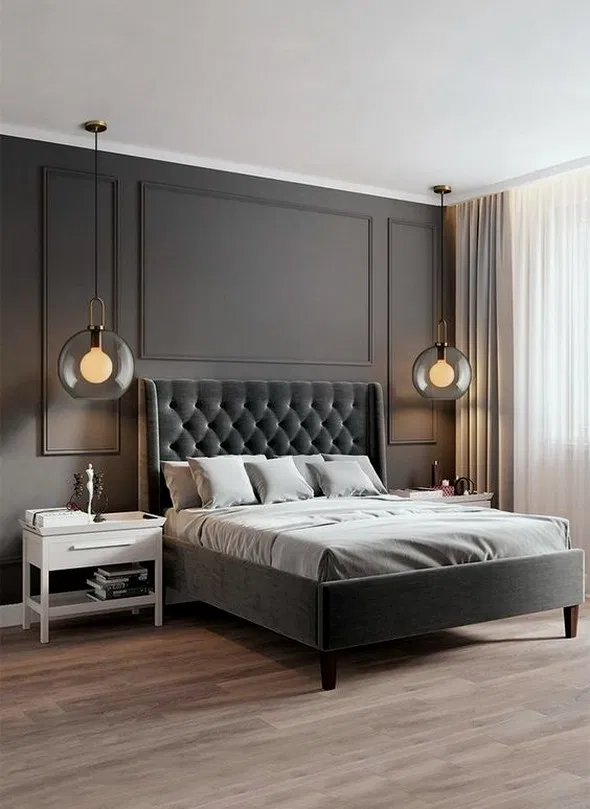 16 How To Paint An Accent Wall Our Guest Bedroom Makeover House Design Ideas In 2020 Luxurious Bedrooms Contemporary Bedroom Design Modern Master Bedroom