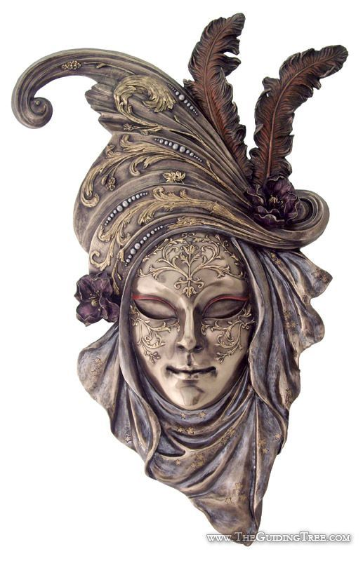 Venetian Mask Wall Plaque - Arabesque [TL185000450] - $98.00 : Unique Gifts for Body Mind and Spirit | Metaphysical, Conscious Living, Personal Growth and Development | Statuary, Tarot, New Age Music, Books, Home and Altar Decor, The Guiding Tree