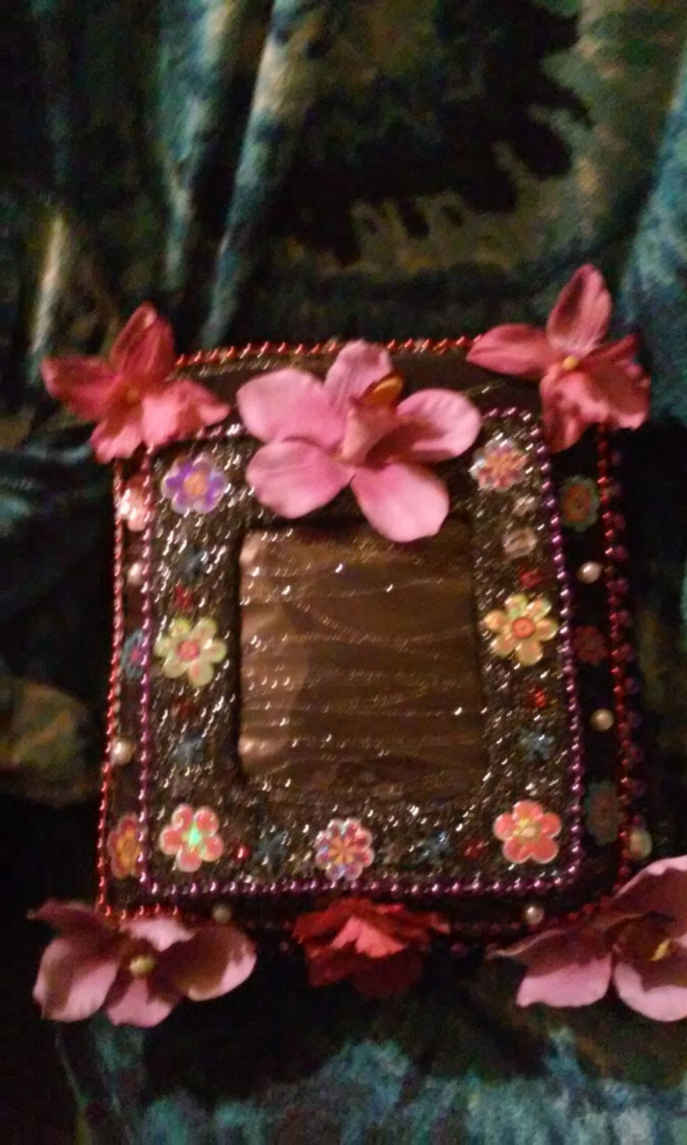 8x10 Black Picture Album With Flowers 10 P Desirable Designs By