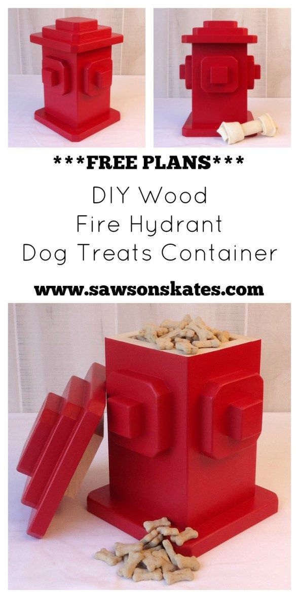 Diy Dog Treats Fire Hydrant Container Dog Treat Container Diy