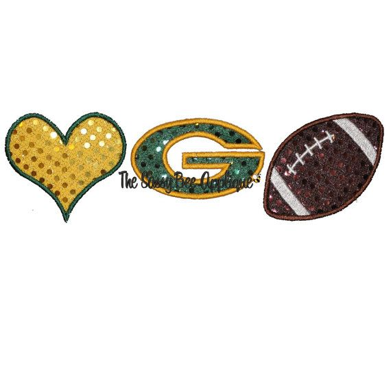 Love PACKER Football Applique Machine by TheSassyBeeApplique, $4.00 ...